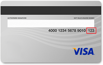 CVV2 number can be found on the back of your credit card
